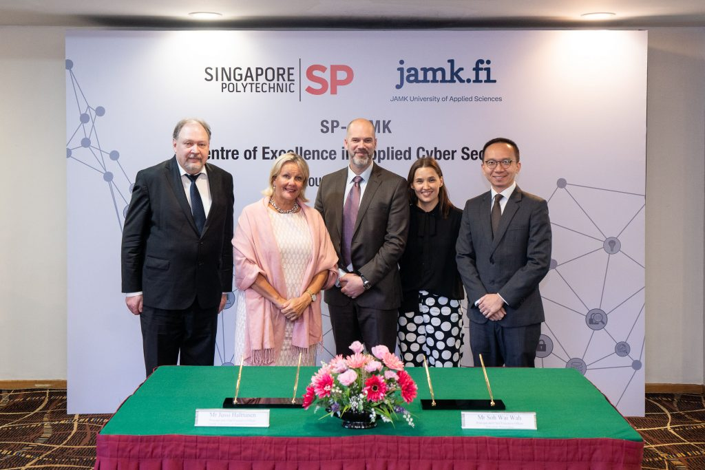 Finnish cyber security expertise in Singapore – JAMK University of Applied Sciences and Singapore Polytechnic collaborating in Centre of Excellence in Applied Cyber Security